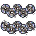 Tectake 10 LED Strips mit 300 LEDs 5m Länge weiß