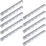 Tectake 10 LED Lichtleisten mit Bewegungsmelder grau