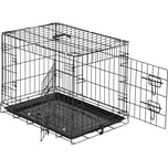 Tectake Hundebox Gitter tragbar 60 x 44 x 51 cm