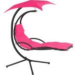 Tectake Hängeliege Kasia mit Sonnendach pink