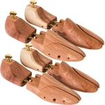 Tectake 2 Paar Schuhspanner aus Zedernholz 39 41