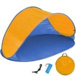 Tectake Pop Up Strandmuschel Jasmin blau orange
