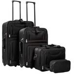 Tectake Reisekoffer und Taschen Set 4 tlg schwarz