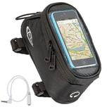 Tectake Fahrradtasche mit Rahmen Befestigung für Smartphones schwarz 18 x 8 5 x 8 5 cm