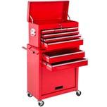 Tectake Werkzeugwagen mit 8 Schubladen rot