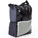 Tectake Fahrradtasche wasserabweisend schwarz grau