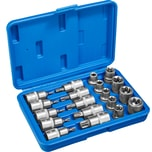 Tectake Aussen Innen Torx Steckschlüsselsatz 19 tlg blau