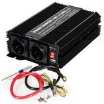 Tectake Wechselrichter 12V auf 230V 1000W 2000W schwarz