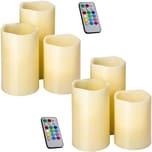 Tectake 2 Sets LED Kerzen mit Fernbedienung und Farbwechsel weiß