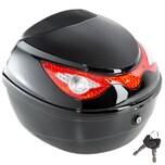 Tectake Motorradkoffer mit extragroßem Reflektor Volumen ca 22 Liter schwarz
