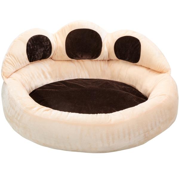 Tectake Hundebett Balou braun/beige Ø 95x33cm