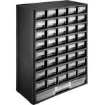 Tectake Sortimentskasten Kleinteilemagazin 41 Schubfächer schwarz weiß