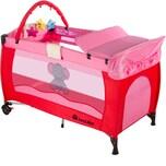 Tectake Kinderreisebett Elefant mit Wickelauflage pink