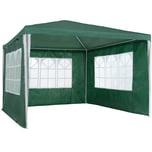 Tectake Garten Pavillon 3x3m mit 3 Seitenteilen grün