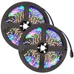 Tectake 2 LED Strips mit 300 LEDs 5m Länge weiß