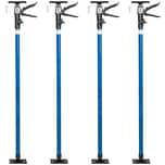 Tectake 4 Baustützen 115 bis 290 cm blau