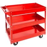 Tectake Werkstattwagen mit 3 Böden rot