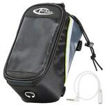 Tectake Fahrradtasche mit Rahmen Befestigung für Smartphones schwarz grau grün 20 5 x 10 x 10 5 cm