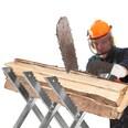 Tectake Holzsägebock klappbar 3 Stammhalter silber