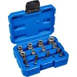 Tectake Außen Torx Steckschlüssel Bitsatz 17 tlg blau