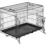 Tectake Hundebox Gitter tragbar 76 x 47 x 51 cm