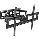 Tectake TV Wandhalterung neigbar schwenkbar für 32 81cm bis 65 165cm VESA max 600x400 bis 120kg schwarz