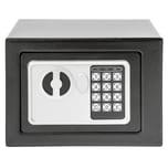 Tectake Elektronischer Safe Tresor mit Schlüssel inkl Batterien schwarz