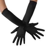 Tectake Lange Satin Handschuhe