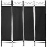 Tectake Raumteiler schwarz