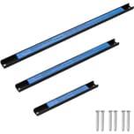 Tectake 3 Magnetleisten Werkzeughalter verschiedene Längen schwarz blau