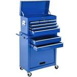 Tectake Werkzeugwagen mit 8 Schubladen blau