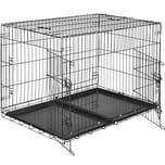 Tectake Hundebox Gitter tragbar 106 x 70 x 76 cm
