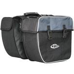 Tectake Fahrradtasche mit Gepäckträger Befestigung und Reflektorstreifen schwarz