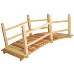 Tectake Gartenbrücke aus Holz 140cm lang braun