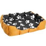 Tectake Hundebett mit Decke und Kissen 110 x 90 cm schwarz braun weiß