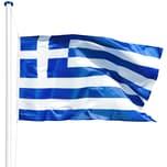 Tectake Aluminium Fahnenmast Griechenland