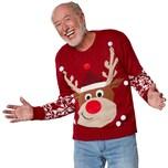 Tectake Weihnachtspullover Rudi Rentier