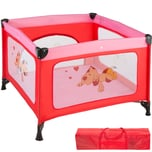 Tectake Baby Laufstall Tommy Junior pink