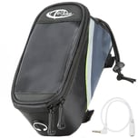 Tectake Fahrradtasche mit Rahmen Befestigung für Smartphones schwarz grau grün 20 x 9 5 x 10 cm