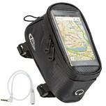 Tectake Fahrradtasche mit Rahmen Befestigung für Smartphones schwarz 20 5 x 10 x 10 5 cm
