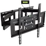 Tectake TV Wandhalterung neigbar schwenkbar für 32 81cm 55 140cm VESA max 400x400 bis 100kg schwarz