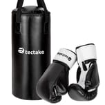 Tectake Boxsack für Kinder inkl Boxhandschuhe schwarz
