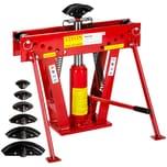 Tectake Rohrbiegemaschine hydraulisch mit 12t Pressdruck rot