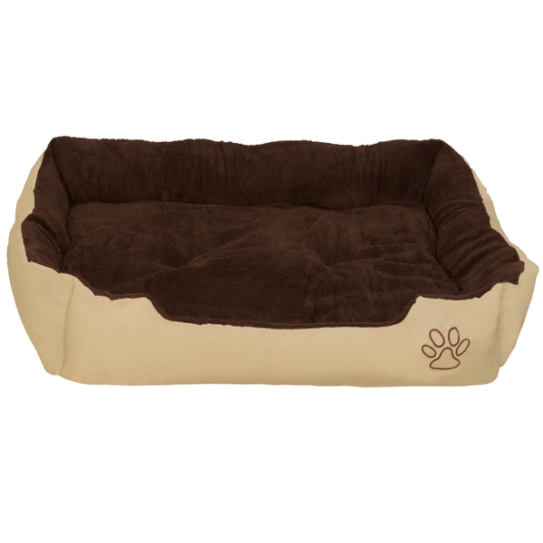 Tectake Hundebett mit Decke 110 x 80 x 18 cm