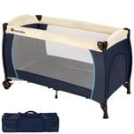 Tectake Kinderreisebett blau