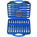 Tectake Steckschlüsselsatz 32 tlg blau