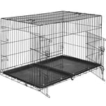 Tectake Hundebox Gitter tragbar 122 x 76 x 81 cm