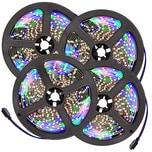 Tectake 4 LED Strips mit 300 LEDs 5m Länge weiß