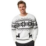 Tectake Weihnachtspullover Winterland weiß schwarz