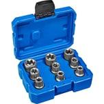 Tectake Aussen Torx Steckschlüsselsatz 9 tlg blau